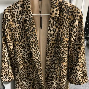 NWT Express Leopard Print Boyfriend Blazer